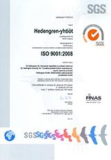 ISO9001 sertifikaatti